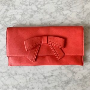 Melie Bianco | Vegan Leather Bow Clutch